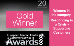 european contact centre and cutomer service awards logo