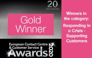 european contact centre and cutomer service awards logo